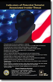 Poster: Indicators of Potential Terrorist Associated Insider Threat