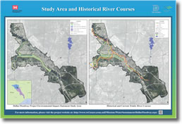 Study Area and Historical River Courses