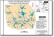 Major Water Resources - Upper Trinity River Basin