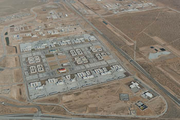 Aerial view of the Fort Bliss Expansion program in El Paso, Texas.